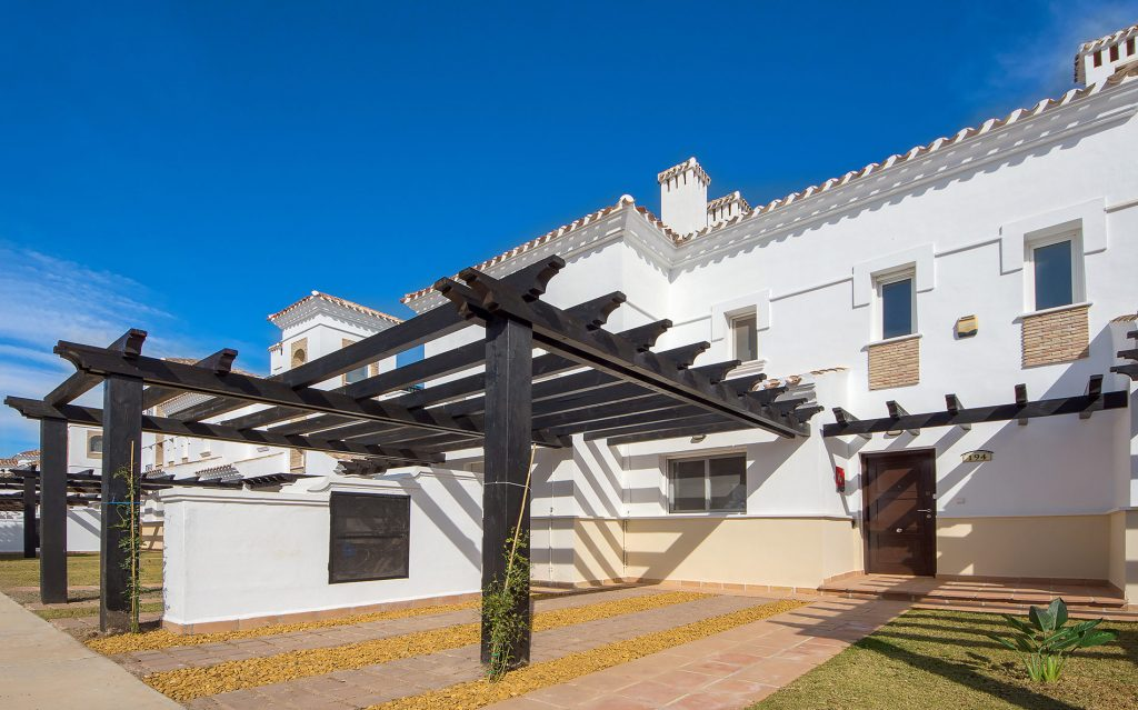 The front of the townhouse to rent at La Torre Golf Resort.