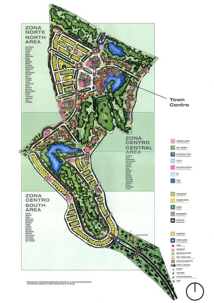 Map of La Torre Golf Resort.